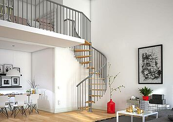 spiral staircase Montreal for indoor use