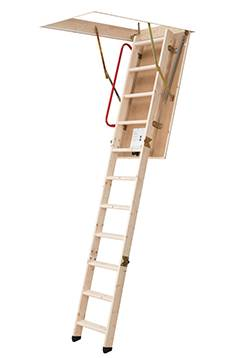loft ladder model sw26 with handrail and plastic feet