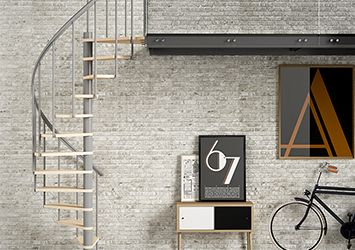 Dolle spiral staircase in grey