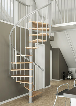 spiral staircase Montreal classic 3 in grey