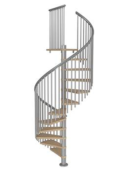 spiral staircase Montreal classic 5 in grey for indoor use