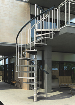 spiral staircase for outdoor use
