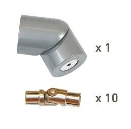 Corner kit PROVA banister 10 Alu