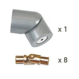 Handrail corner kit Alu PROVA 8