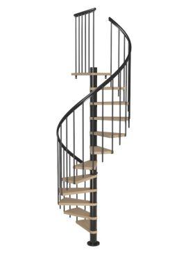 Spiral staircase MONTRÉAL CLASSIC Anthracite