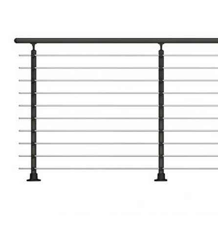 Handrail banister PROVA 10 anthracite kit 1.2 m high