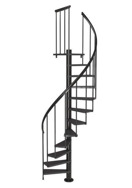 Spiral staircase Calgary in anthracite from DOLLE