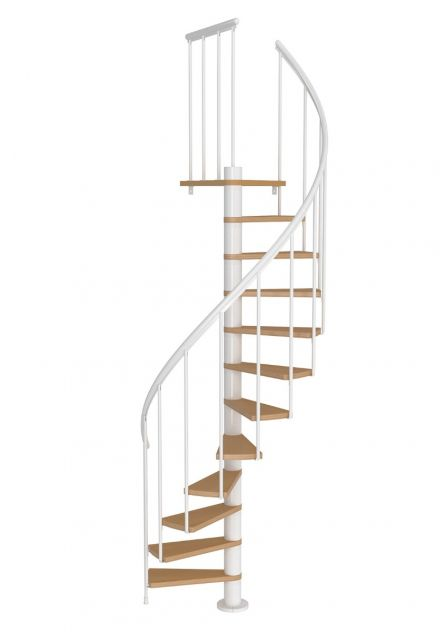Spiral staircase DOLLE Calgary white | grey
