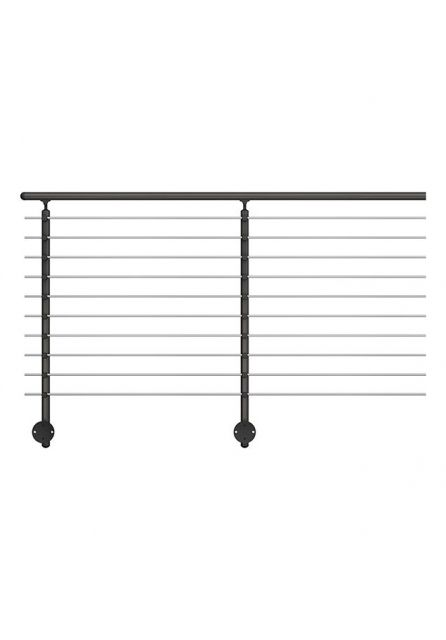 Handrail banister PROVA 10 Anthracite extension kit - wall mounting